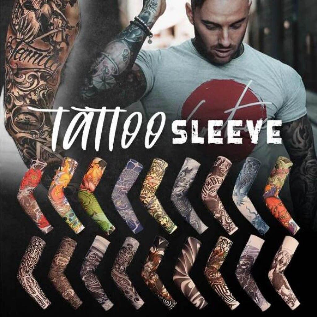 10PCS Men Women Tattoo Cooling Arm Sleeves Cover Boy Girl Basketball Golf Sport UV Sun Protection