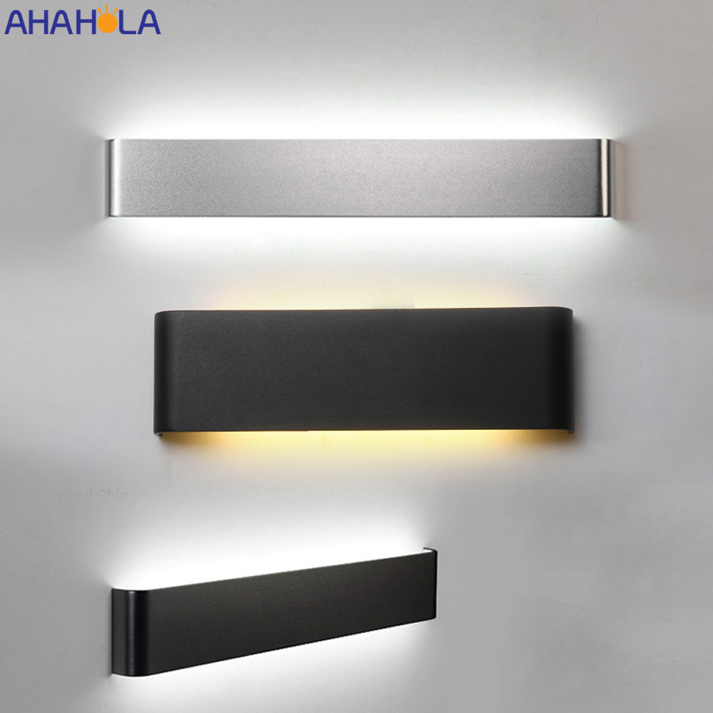 Gold Silver Black Bathroom Wall Light Fixtures Aluminum Sconce Led Wall Lamp Modern Minimalist Light Bathroom Led Mirror Light