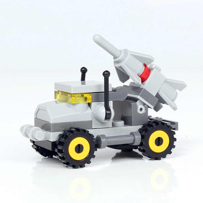ミニ車のモデルのビルディング子供のための diy の教育組み立て輸送タンク飛行機小型レンガ男の子用