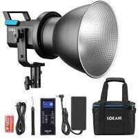 Sokani X60 kit COB LED Video Light 80W 5600K Daylight With 2.4G Remote Controller 5 Pre Programmed Lighting Effects