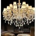 Модная люстра  спальня  гостиная  коньяк  подвесные лампы хрустальные люстры  осветительная Хрустальная люстра