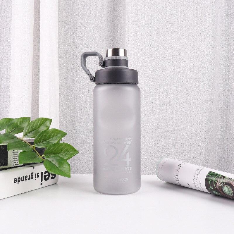 Hb265fa66e2344cbcbe3f7f7cba16e14fi Kettle 850ML large capacity plastic water dispenser travel student outdoor sports school portable scrub leak cup drinking bottle