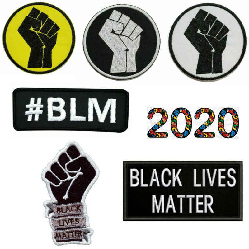 BLM Nero Vita Sticker Badge Adesivi Importa Cucire/Ferro-On Patch di BLM Uguaglianza Razziale di Protesta Accessori