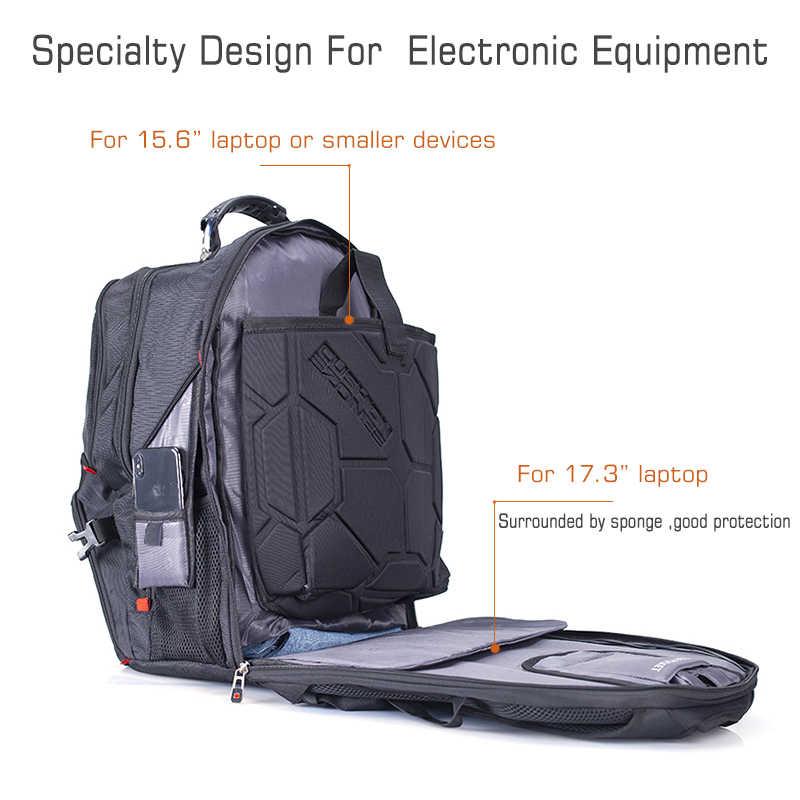 """Crossten 17 """"plecak na laptopa wodoodporny Port ładowania USB szwajcarski wielofunkcyjny plecak tornister Mochila torba podróżna"""