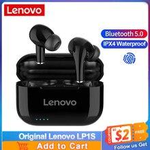 Lenovo LP1S TWS Kopfhörer Bluetooth 5,0 Drahtlose Sport Kopfhörer Touch Control Stereo HiFi Musik Headset mit Mikrofon