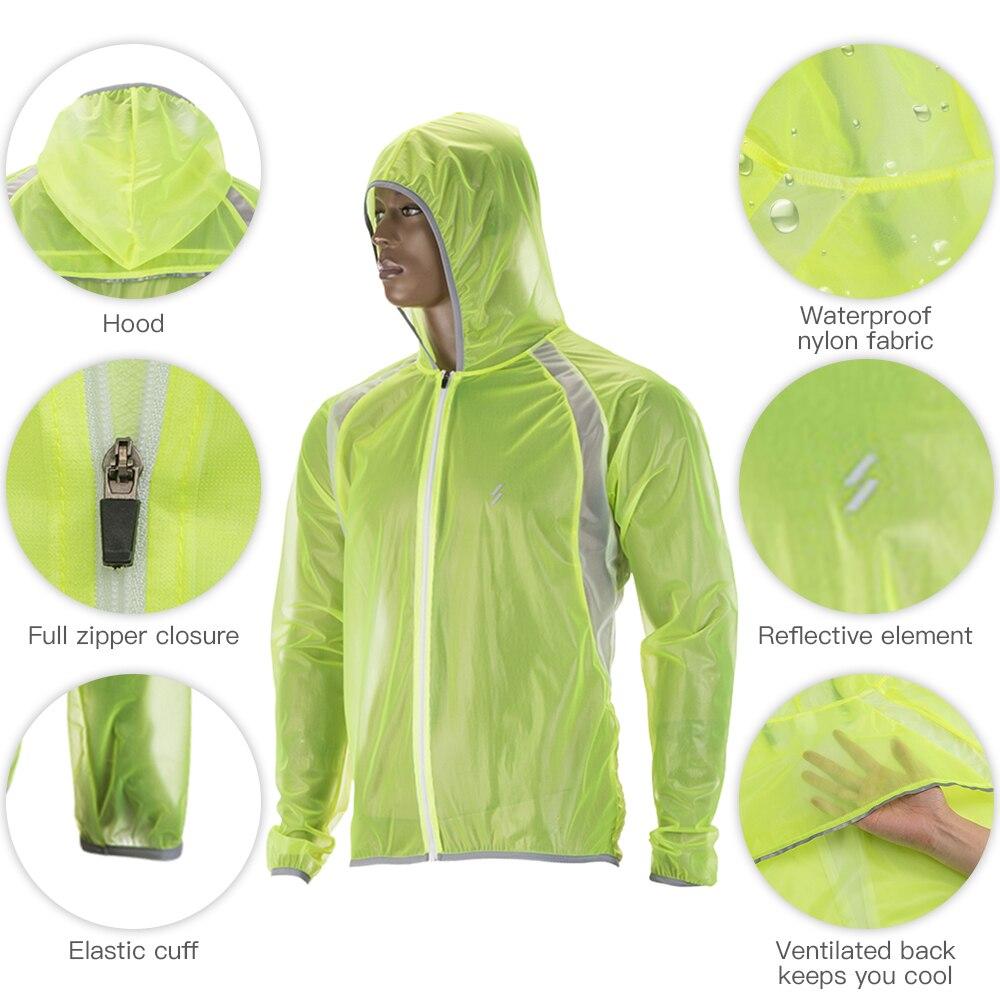 Impermeável camisa de ciclismo capa de chuva