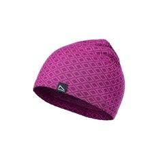 Новые детские мериносовые шерстяные шапки в стиле бини для девочек, вязаная шапка для девочек, детская зимняя спортивная шапка, размер 52, красная шерстяная шапочка