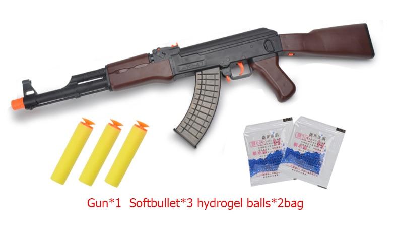 Ak47 jeu de pistolet champs de bataille inconnus H1Z1 balles Hydrogel en plastique Abs pistolet à eau bricolage jeux de plein air Wasserpistole pour les grévistes