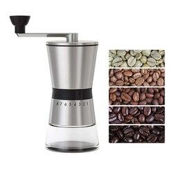 Moedores de café manual da precisão de leesh, 15 ajustes ajustáveis, aço inoxidável escovado 18/8