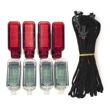 Салона Led осветительных приборов для ног светильник+ Уплотнение Оборудование Red Door Панель Аварийные огни лампы кабель для A3 S3 A4 B8 S4 A5 S5 A6 S6 A7 A8 S8 Q3 Q5 TT TTRS