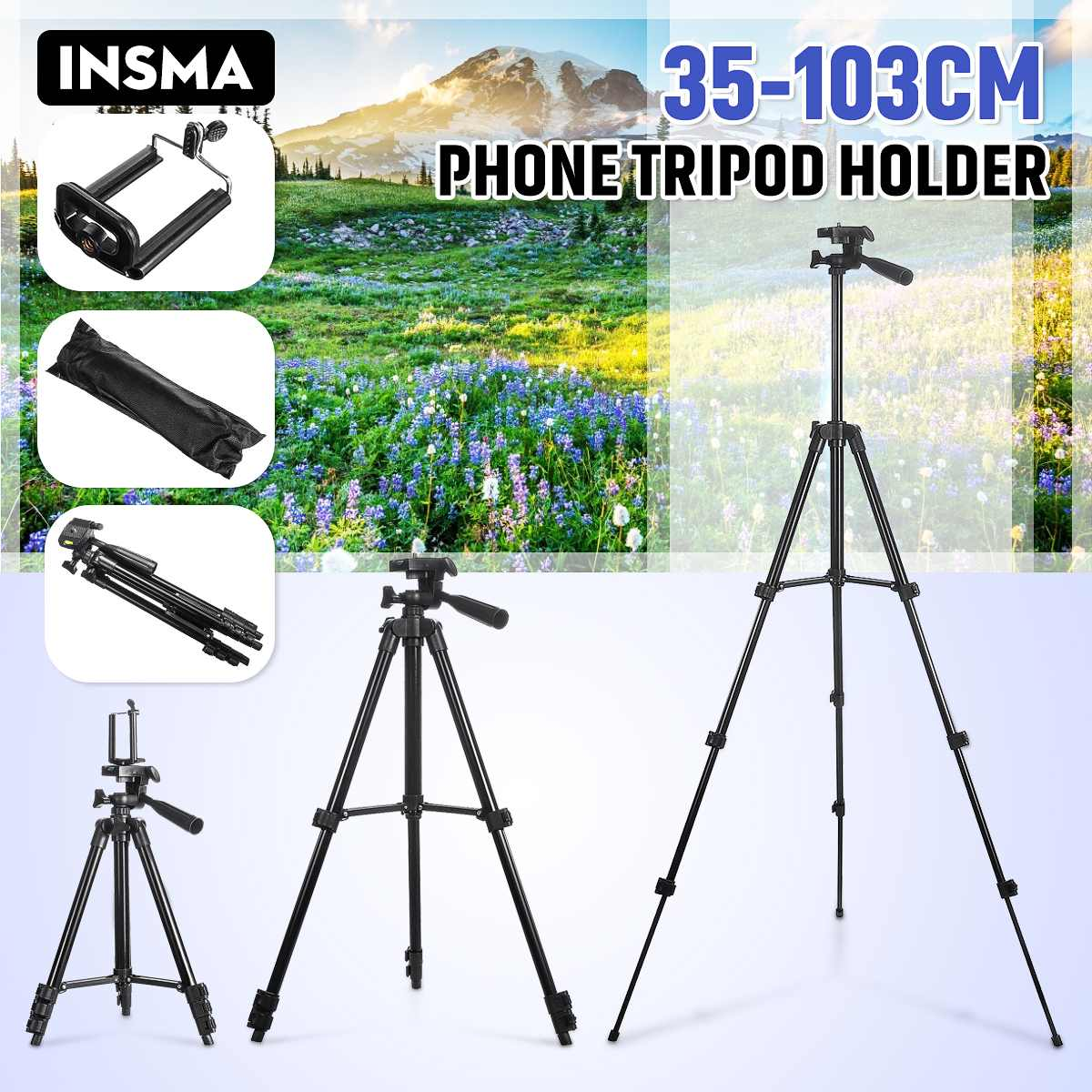 Portable Tripod For Phone Live Tripod for Youtube Camera DSLR Stick Stand Monopod Cam Box Photo Holder Table Tripod For Camera
