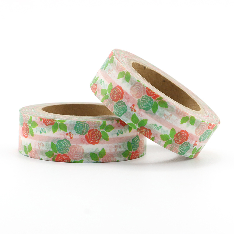Купить с кэшбэком Top sales Fresh Floral, cute animal design Washi Tape Strawberry Sticky Adhesive Tape Various Patterns Masking Tape