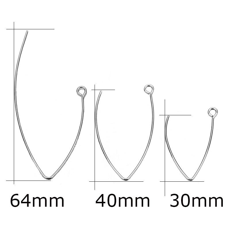 חדש V בצורת עגיל צרפתית עגיל ווים ממצאי אוזן וו חוט הגדרות בסיס הגדרות עבור תכשיטי ביצוע עגילי אבזרים