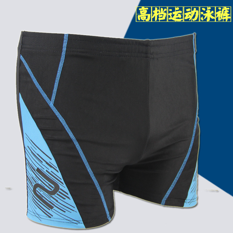 Hot Sales Fashion Sporty MEN'S Swimming Trunks Chinlon Quick-Dry Breathable Boxer Mixed Colors Large Size Swimming Trunks