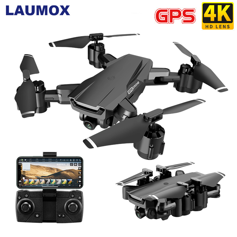 LAUMOX G11 GPS RC Drone 4K HD Camera Optical Flow WIFI FPV 50 Times Zoom RC Quadcopter Follow me  Foldable Professional Drones