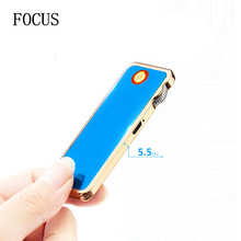 FOCUS MINI  Touch Sensitive USB Lighter Small Electric Rechargeable Cigarette Lighters With Gearwheel
