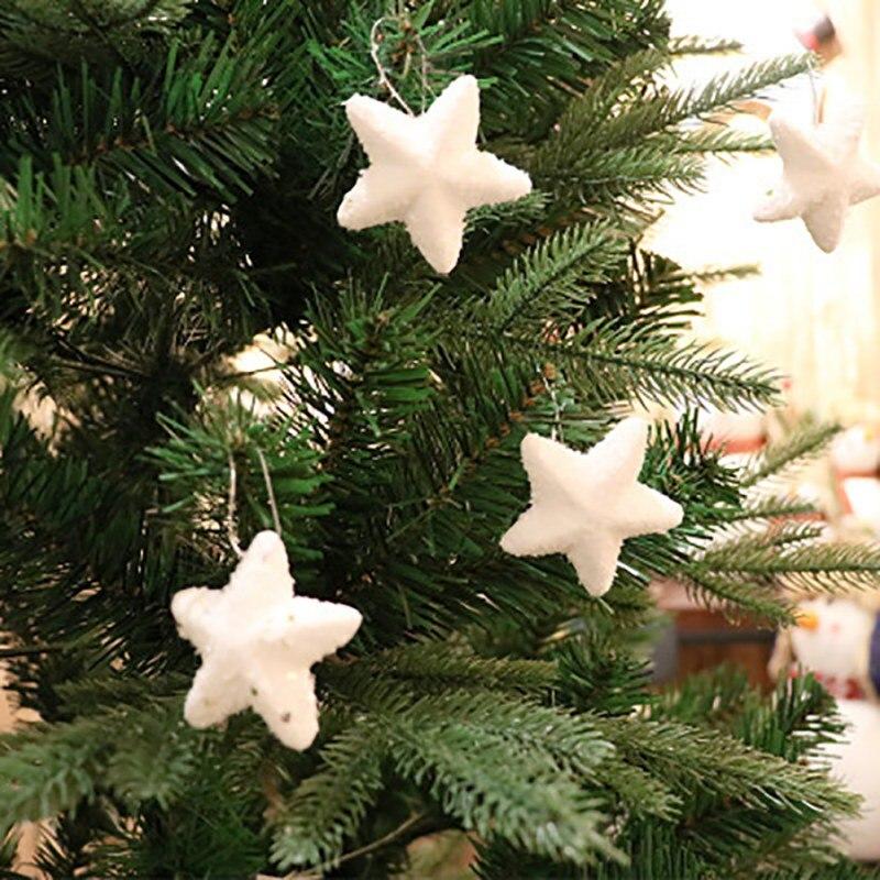 Christmas Foam Stars Shape Pendant Snowflakes Christmas Tree Ornaments Christmas Decorations Supplies 6PCS HS Pendant & Drop Ornaments     - title=