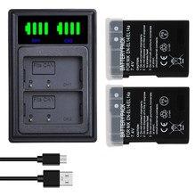 Batterie de caméra ENEL 14 EN EL14 EL14A EL14 + chargeur USB pour Nikon D5200 D3100 D3200 D5100 P7000 P7100