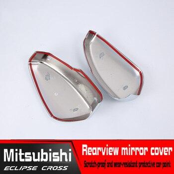 зеркала в серебряной оправе | ABS посеребренные автомобильные аксессуары для Mitsubishi Eclipse Cross зеркало заднего вида декоративная рамка