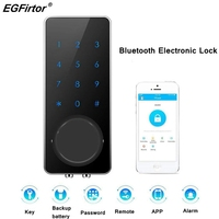 Barato https://ae01.alicdn.com/kf/Hb2677082e76741ccbf4f67710a5a4537Q/Cerradura inteligente Bluetooth sin llave cerradura de puerta Digital inalámbrica electrónica Bluetooth cerradura de puerta con.jpg