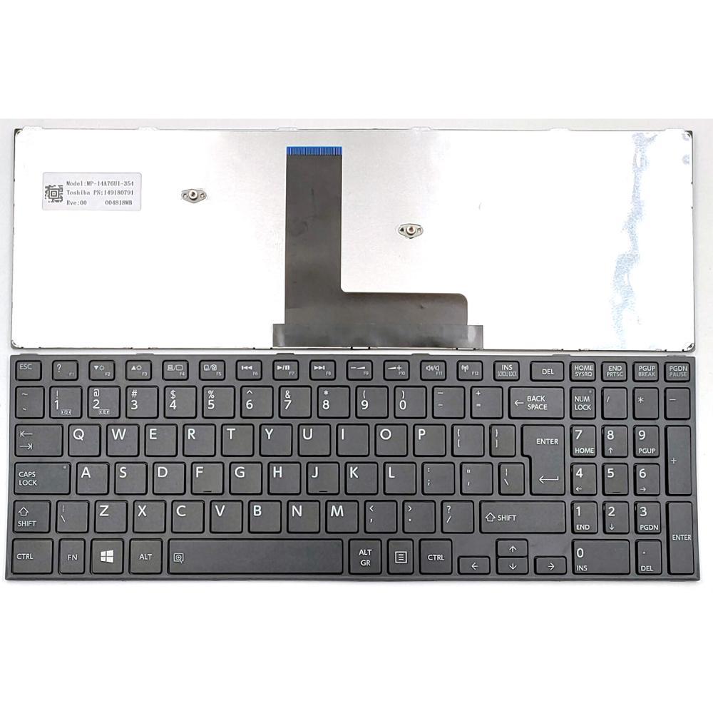 Bucom Keyboard for Toshiba Satellite C50-B C50D-B C50DT-B C55T C55T-B C50b QWERTZ Keyboard Pro R50-B