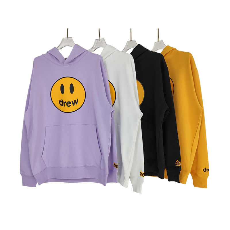 Drew House Hoodie Men Women Pullover 1:1 Best Quality Drew Smile Face Printed Justin Bieber Hoody Hoodies
