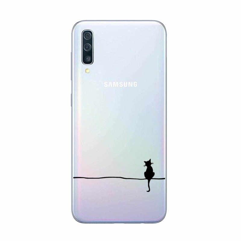 Miękka silikonowa obudowa tpu do Samsung Galaxy A50 przypadki 6.4 ''2019 moda obudowa tylna do Samsung A50s A 50 A505 A505F telefon okładka