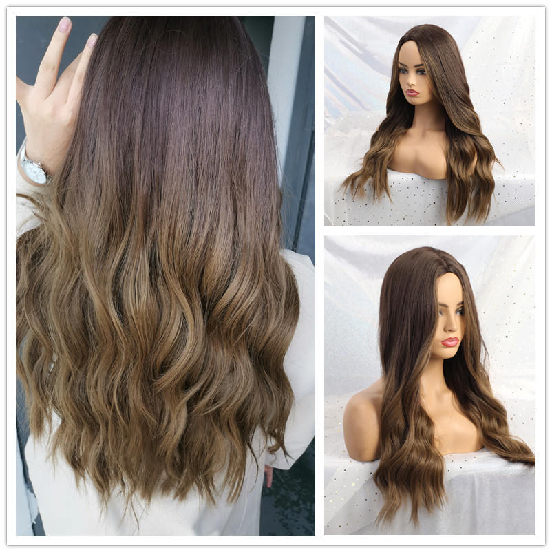 Easihair onda longa loira perucas sintéticas ombre