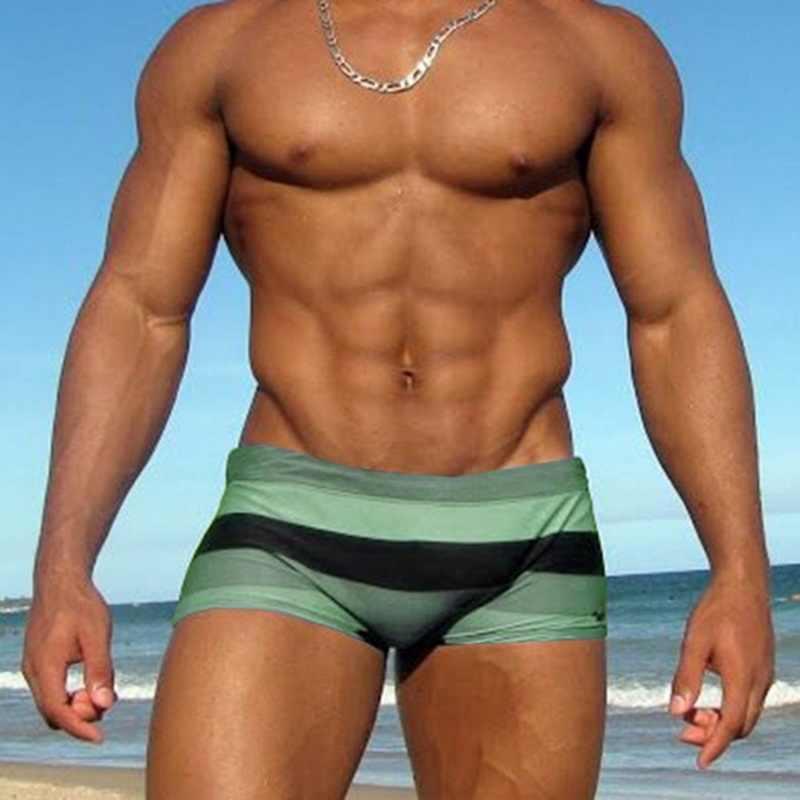 2020 calções de banho de praia dos homens sexy calções de banho sunga listrado maiô mayo de praia homens maillot de bain