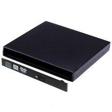 9.0/9.5/12.7mm SATA Caso Externo USB 2.0 Blu-ray DVD Caso do DVD e CD-Rom Para Laptop CD/DVD Drive Óptico Portátil Slim Atacado