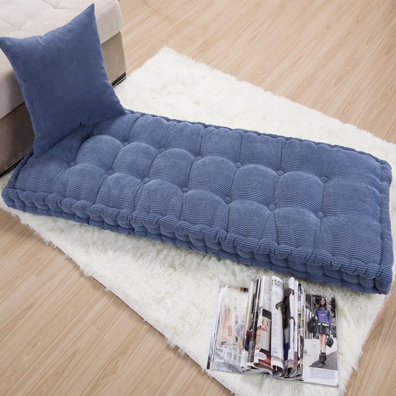 Thick Cushion Home Office Decoration Long Cushion Solid Color Tatami Cushion Customizable Floor Cushion Free Shipping