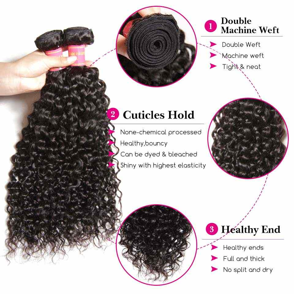 El pelo Sunber añade $5,00 para hacer pelucas bundeles rizados brasileños con cierre 100% cabello remy Samll/Meidum/ tapa grande peluca