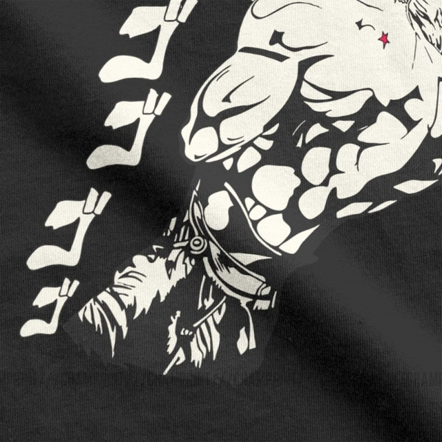 Dio Brando Jojos Bizarre Adventure T-Shirts Men Pure Cotton T Shirt Joestar Anime Kujo Blood Otaku Crusaders Short Sleeve Tees 3