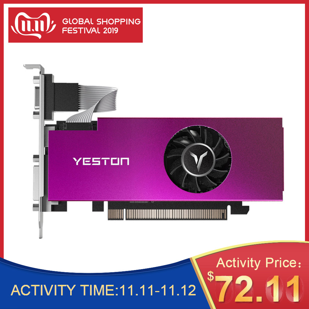 Yeston RX 550 RX550 4G D5 Graphic Card Video Card Radeon Chill PC 4GB Memory GDDR5 128Bit Graphics Card 6000MHz VGA HD DVI D GPU-in Graphics Cards from Computer & Office