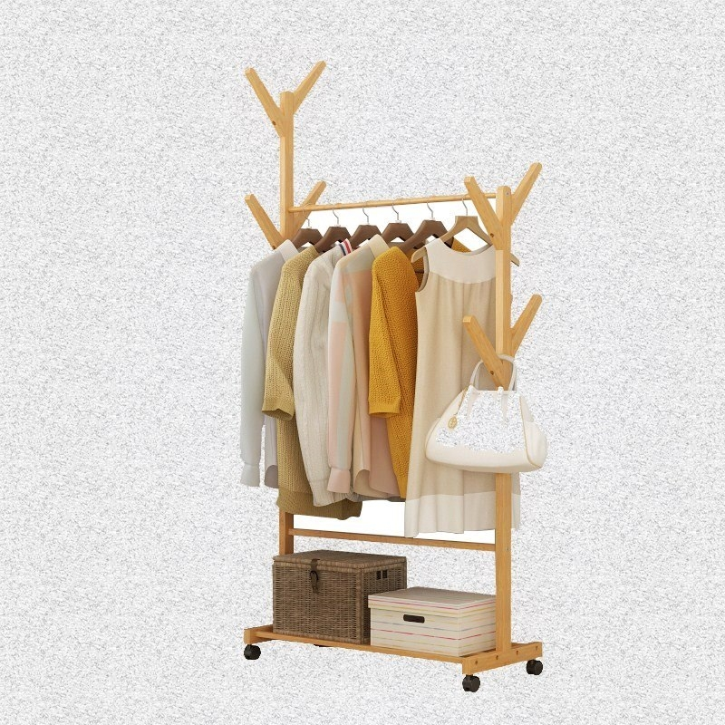 Home Floor-to-ceiling Hanger Mini Practical Fresh Simple Children's Bedroom Small Convenient Clothes Rack Small High Cx