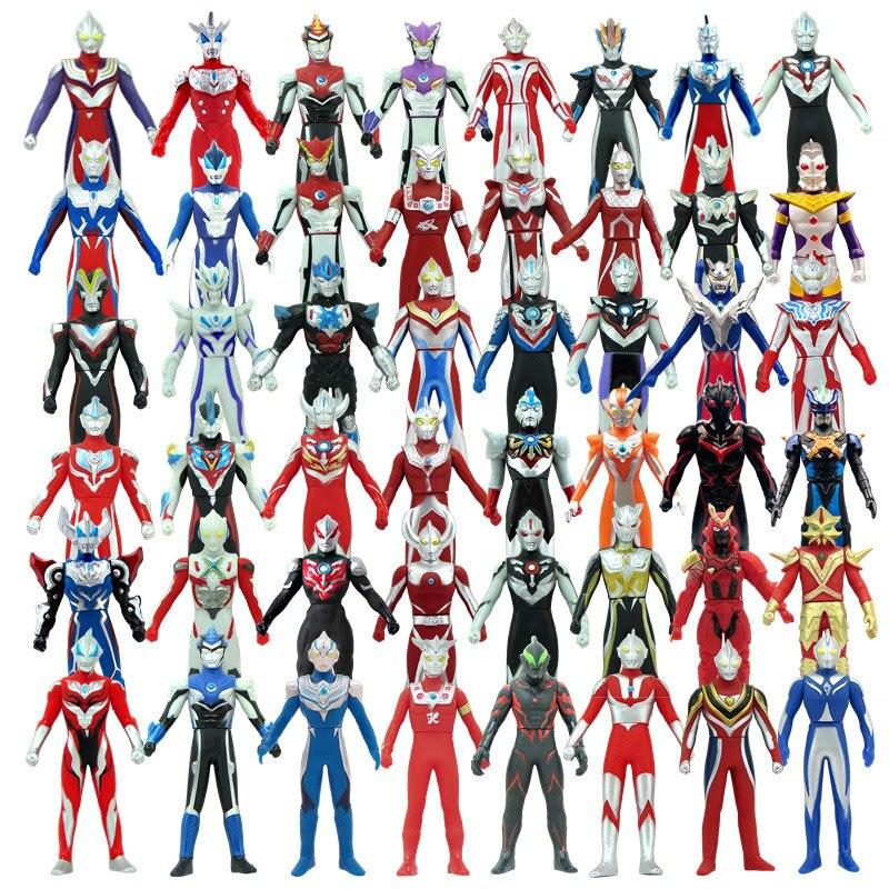 2020 New 13cm Soft Glue Ultraman Blu Gaia Darklops Zero Gruebe Monster Action Figure Emperor Infinite Form Children's Toys Gifts