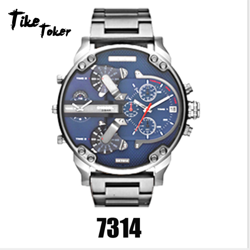 relógio de lazer de aço quartzo masculino