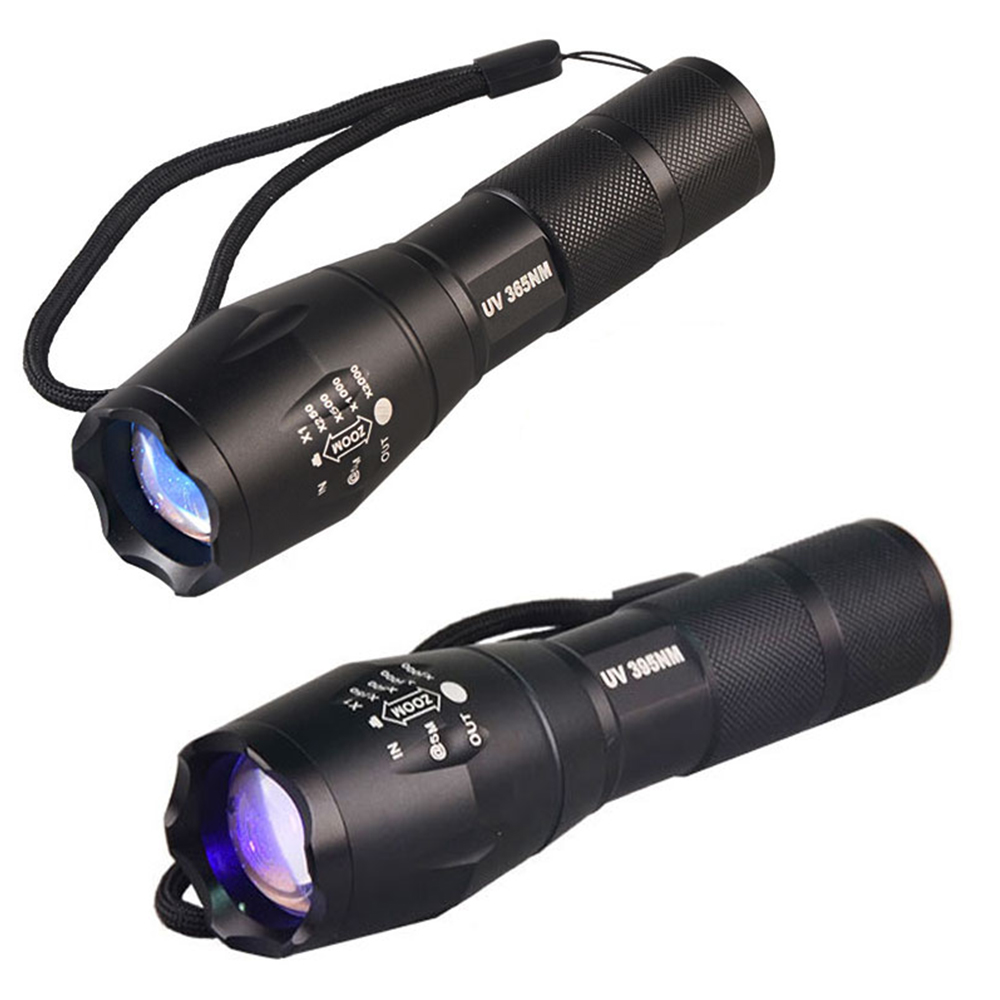 New Military Grade Tactical <font><b>Flashlight</b></font> <font><b>UV</b></font> Electric Torch <font><b>Flashlights</b></font> <font><b>UV</b></font> LED <font><b>365NM</b></font> <font><b>UV</b></font> <font><b>395NM</b></font> Detector Lamp for Scorpion Money image