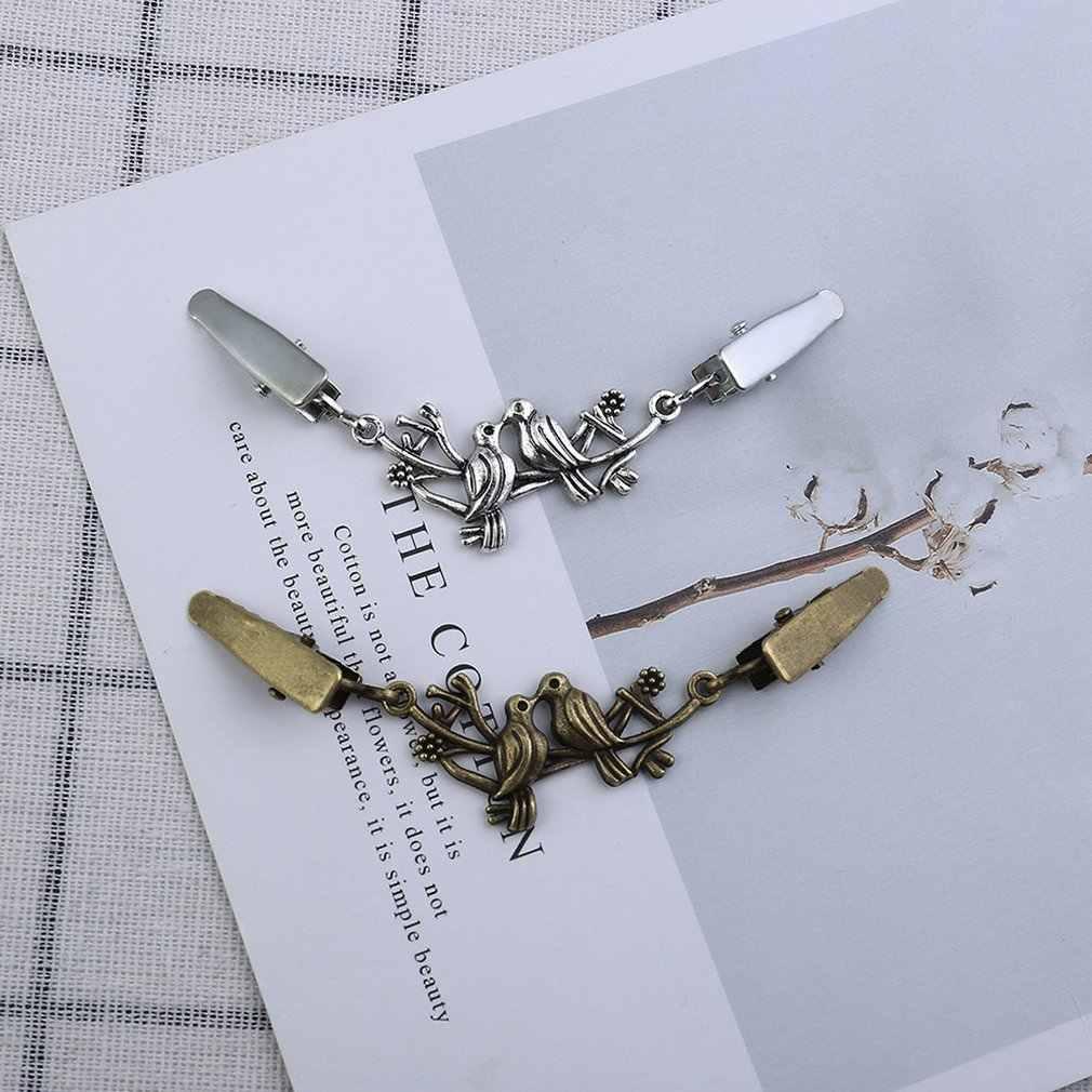 Корейская версия простой личности сплава Птица Форма открытые зажимы дикая брошь на свитер одежда Соединительная Скоба древнее серебро