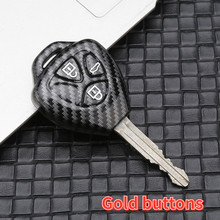 Carbon Fiber ABS Remote 3 Buttons Key Shell Case Fob For Toyota Venza Camry RAV4 Yaris Scion Tc