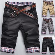 Шорты-карго мужские в клетку, повседневные, с карманами, на пуговицах, свободные пляжные короткие штаны, модель 3XL, лето 2020