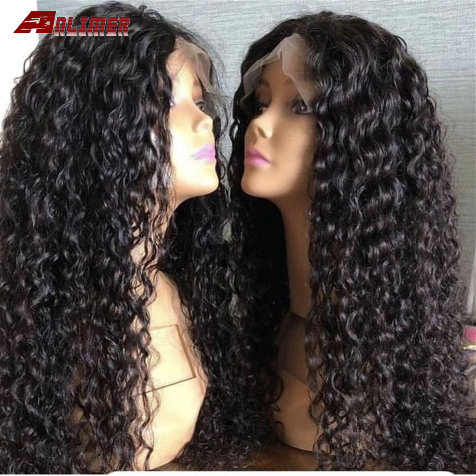 Pre Plucked 13x4 Deep Curly Lace Front Human Hair Wigs With Baby Hair Bleached Knots Peruvian Remy Hair