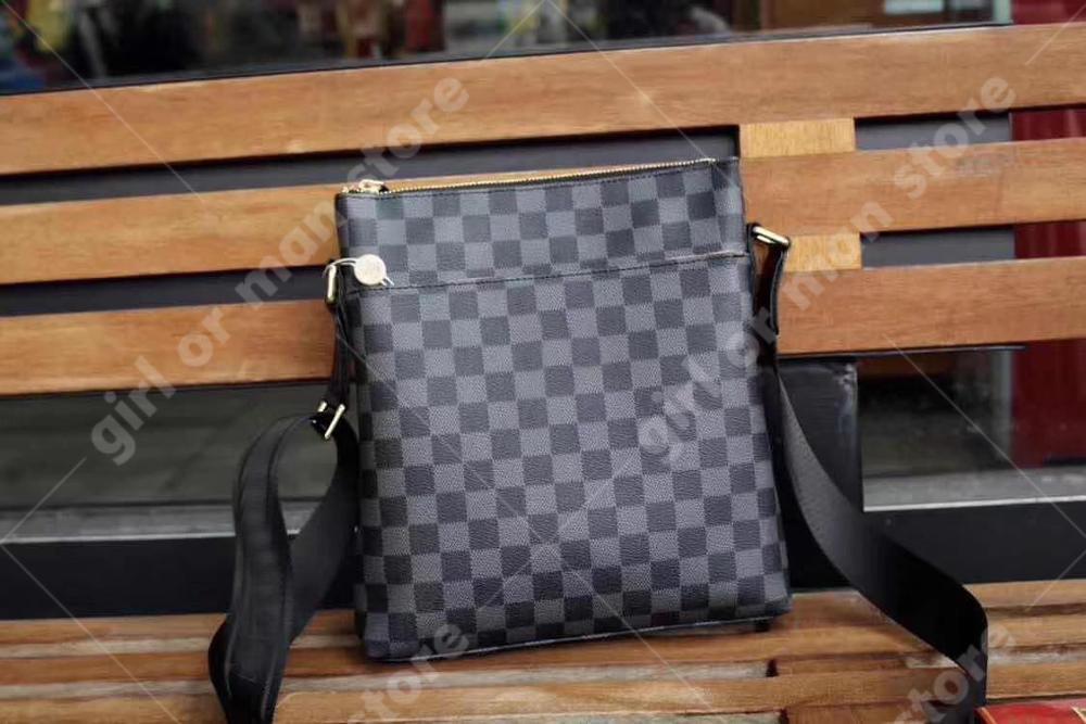 Luxury for man handbag 2019 new fashion designer Damier Cobalt Inclined shoulder