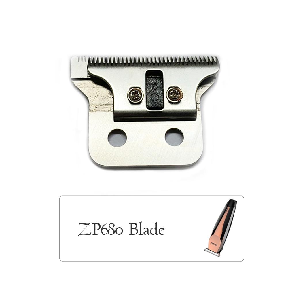 Profissional máquina de cortar cabelo elétrica lâmina aparador cabelo cabeça da lâmina para zp680 aço inoxidável