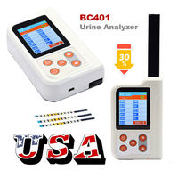 CONTEC LCD Portable Urine Analyzer GLU,BIL,SG,KET,BLD,PRO,URO,NIT,LEU,VC,PH,USB 11parameter test strip BC401