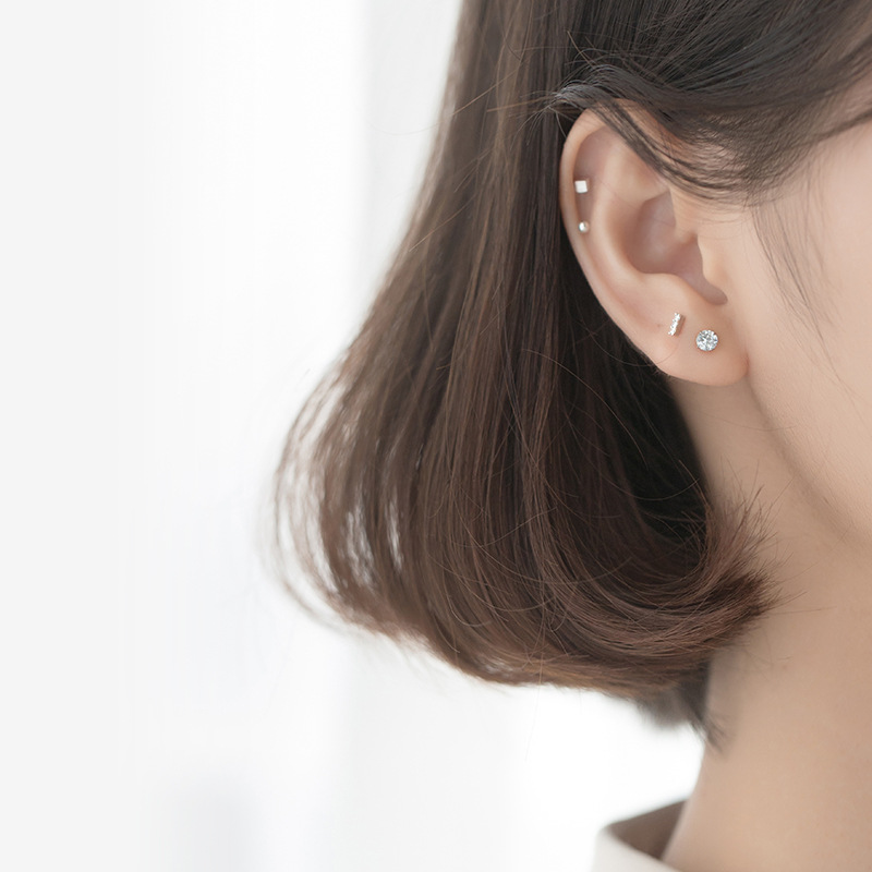 La Monada Stud Earrings For Women Silver 925 Minimalist One Set Fine Women Earrings In Jewelry Stud Earrings 925 Sterling Silver