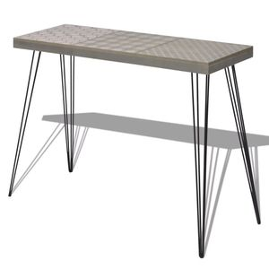 IKAYAA Retro Console Table 35.4