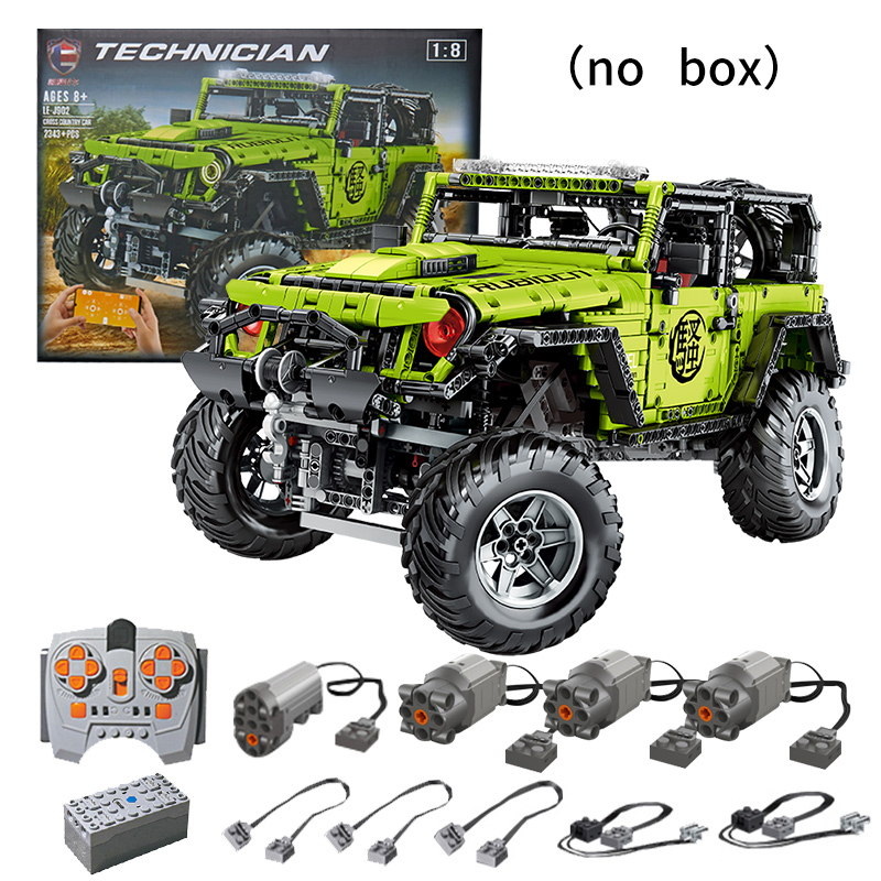 2343pcs LE-J902 Technic APP Motor RC Model Car MOC green 4X4 Building Blocks Bricks Kids Birthday Christmas DIY Educational Toy