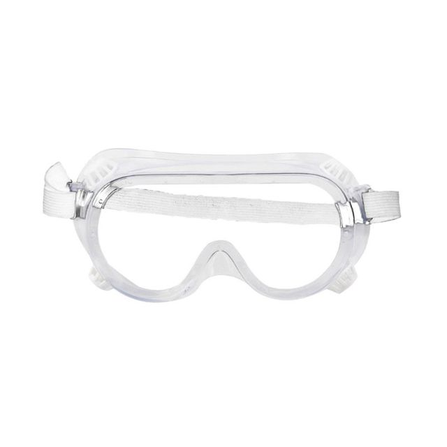 Multifunctional Splash Safety Goggles with White Band Anti-Dust Droplets Saliva Protection Anti-Fog Eye Cover Shield for Solderi