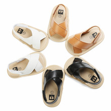 2020 Newest Hot Baby Boys Roma Sandals Cross Hollow Out Soft Sole Summer Beach